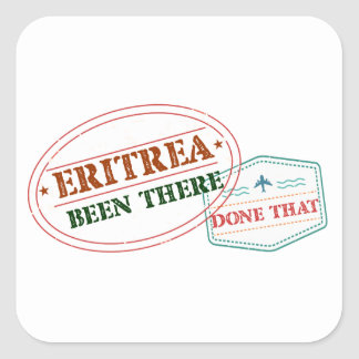 Eritrea Been There Done That Square Sticker