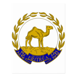 Eritrea Coat of arms ER Postcard