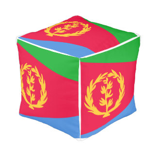 Eritrea Flag Pouf