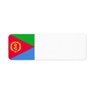 Eritrea Flag Return Address Label
