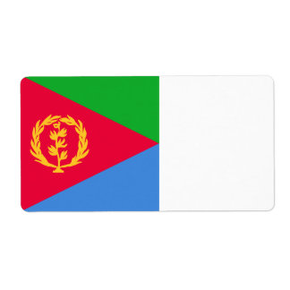 Eritrea Flag Shipping Label
