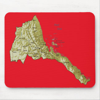 Eritrea Map Mousepad