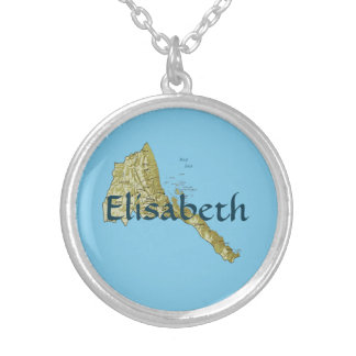 Eritrea Map + Name Necklace