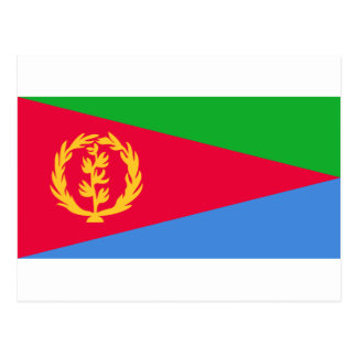 Eritrea National World Flag Postcard