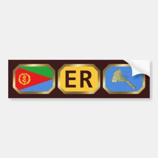 Eritrean Flag Map Code Bumper Sticker