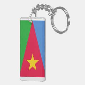 Eritrean Flag Rectangle (double-sided) Keychain