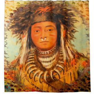 Ermine Tail Native American Shower Curtain