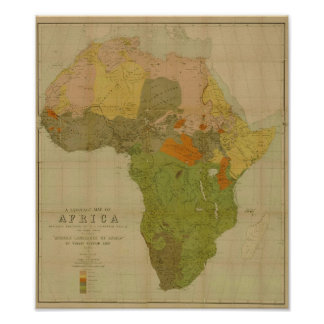 Ernest George Ravenstein - Language Map of Africa Poster