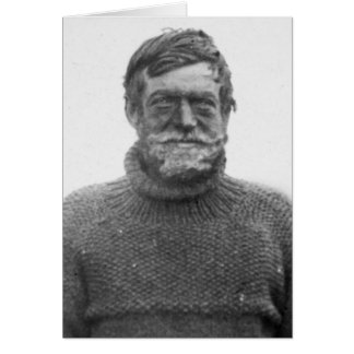 Ernest Shackleton in Antarctic Card with Quote