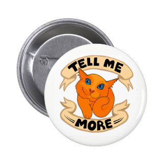 Ernest the empathy cat 2 inch round button