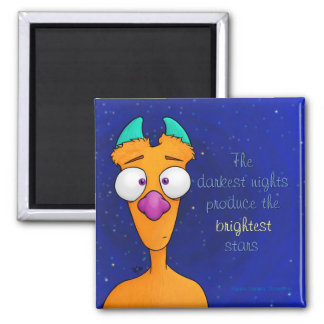Ernest the Monster, magnet w/quote