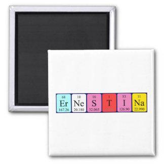 Ernestina periodic table name magnet