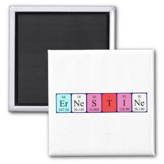 Ernestine periodic table name magnet