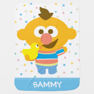 Ernie Baby Face and Duckie | Add Your Name Baby Blanket