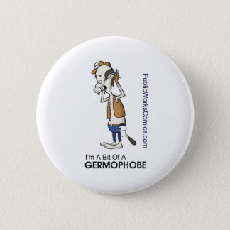 Ernie Germaphobe 2 Inch Round Button