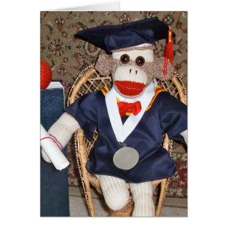 Ernie la carte d'obtention du diplôme de singe de