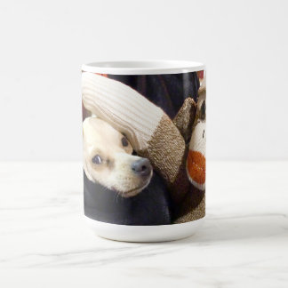 Ernie the Sock Monkey and Chihuahua Mug