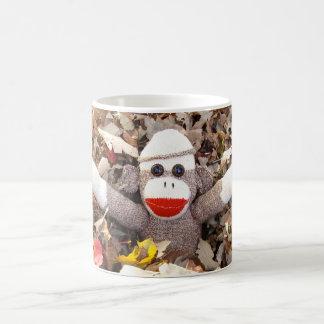 Ernie the Sock Monkey Autumn Leaves Mug