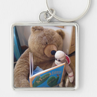Ernie the Sock Monkey Book Keychain