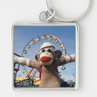 Ernie the Sock Monkey Ferris Wheel Keychain
