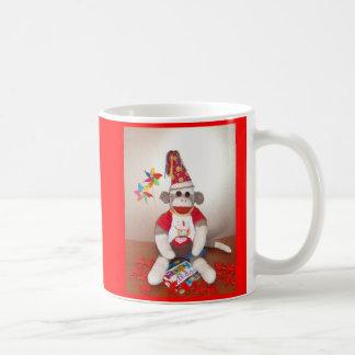 Ernie the Sock Monkey Happy Birthday Mug