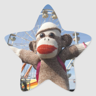 Ernie the Sock Monkey Star Sticker