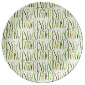 Ernst Benary's Bean Varieties Porcelain Plate