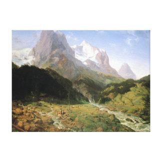 Ernst Ferdinand Oehme Wetterhorn Canvas Print