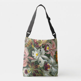 Ernst Haeckel Art Print:Orchidae Oncidiums, tulips Crossbody Bag