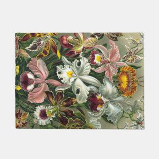 Ernst Haeckel Art Print:Orchidae Oncidiums, tulips Doormat