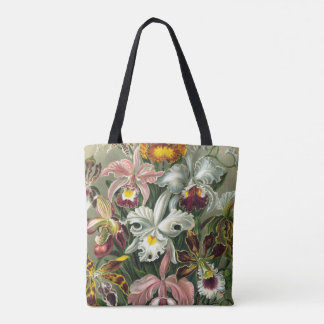 Ernst Haeckel Art Print:Orchidae Oncidiums, tulips Tote Bag