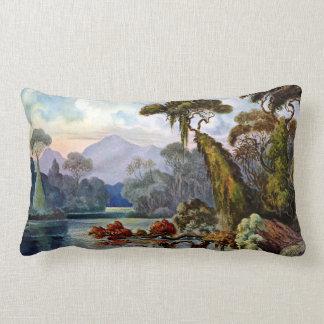 Ernst Haeckel Ceylon Jungle River Lumbar Pillow