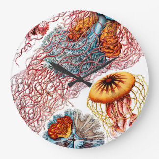 Ernst Haeckel Discomedusae Jellyfish Large Clock