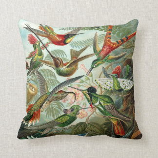 Ernst Haeckel ~ Hummingbirds Cushions Pillow