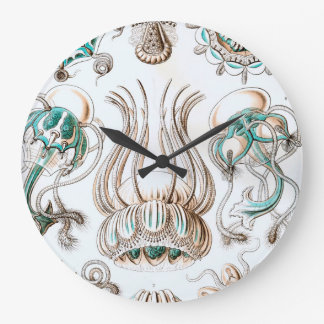 Ernst Haeckel Narcomedusae jellyfish! Large Clock
