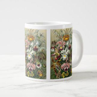 Ernst Haeckel Orchids, Vintage Rainforest Flowers Giant Coffee Mug