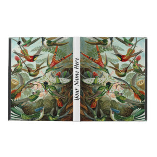 Ernst Haeckel vibrant and colorful hummingbirds iPad Folio Case