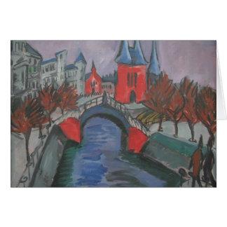 Ernst Kirchner- Red Elisabeth Riverbank, Berlin Card
