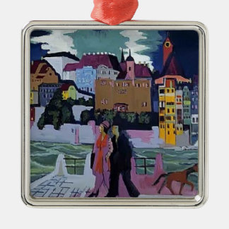 Ernst Ludwig Kirchner- View of Basel and the Rhine Metal Ornament