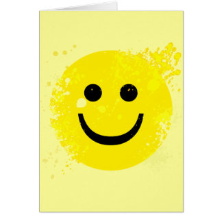 ERODED AND PAINT SPLATTER SMILEY CARD