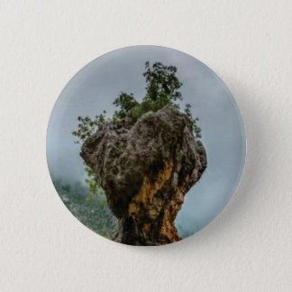 eroded balanced rock 2 inch round button
