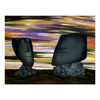 Eroded dream heads, print