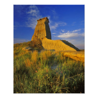 Eroded Monument in the Little Missouri Poster