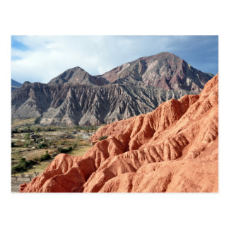 Eroded Mountain Range In Salta Province Postcard