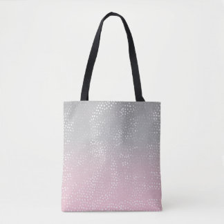 Eroded Pattern on Colors Gradient Tote