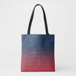 Eroded Pattern on Vibrant Colors Gradient Tote