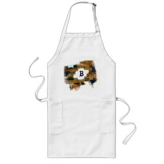 Eroded Violin Window with Customizable Monogram Long Apron
