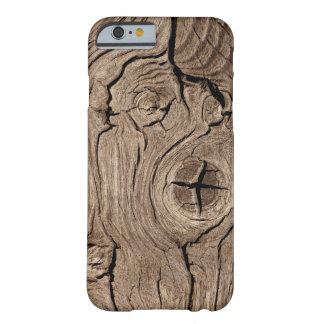 Eroded Wood Grain Barely There iPhone 6 Case