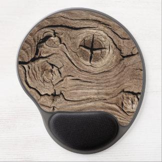 Eroded Wood Grain Gel Mouse Pad