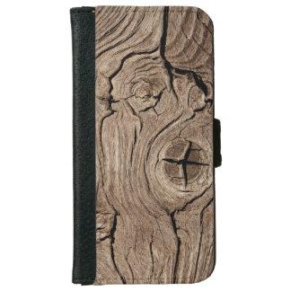 Eroded Wood Grain iPhone 6 Wallet Case